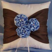 Satin Flower Ring Bearer Pillow