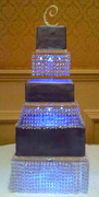 Crystal Chandelier 3 Tier Cake Stand