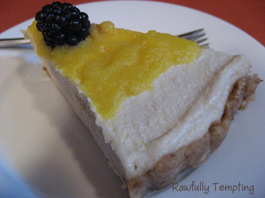 cake - lemon cheesecake w pineapple top