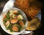 Beer Bread, Salad with Beer Vinaigrette Dressing