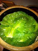 Cabbage leaf over kraut