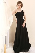 Darius Cordell - S508 - one shoulder black evening gowns