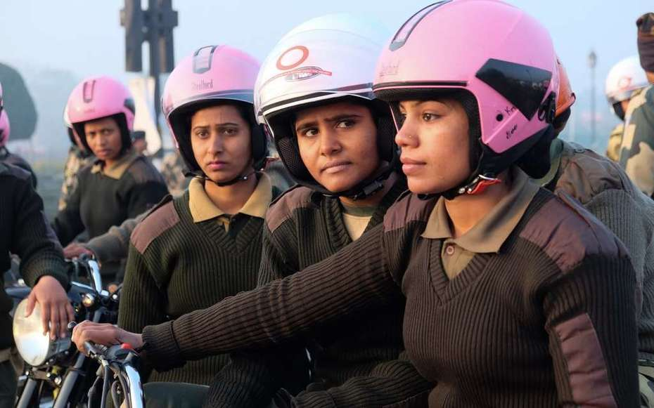 Delhi's new all-female motorbike police unit drive down street harassment against women