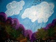 """""""Purple Mountains"""" details"""