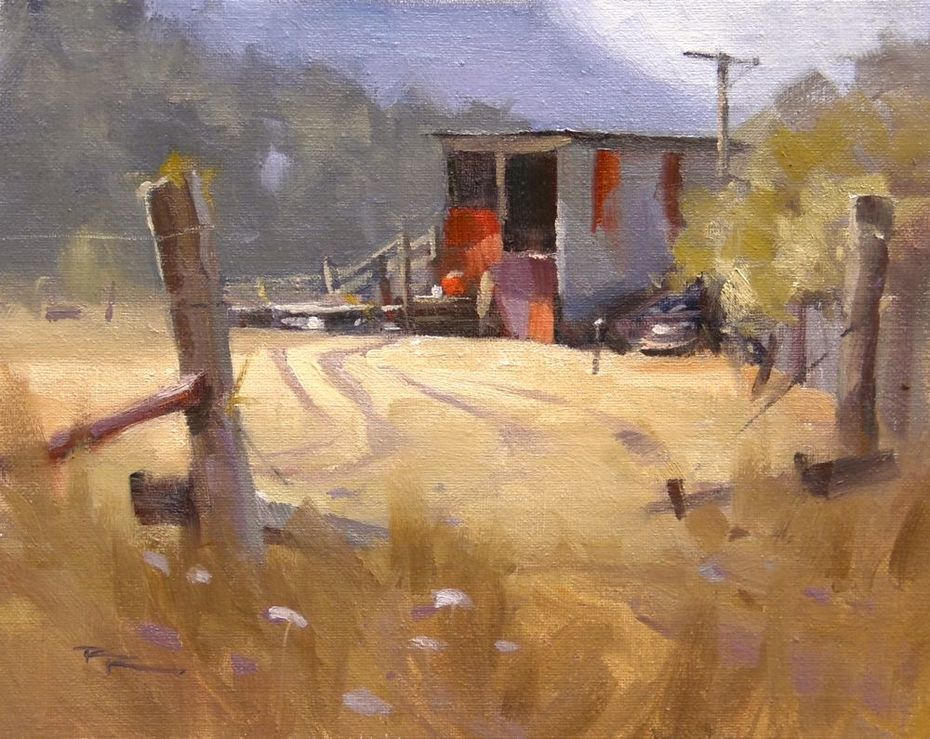 """Farm Shed - 8x10"""" SOLD"""