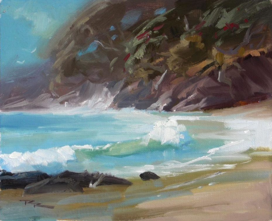 """Shelly Bay - 8x10"""" - SOLD"""