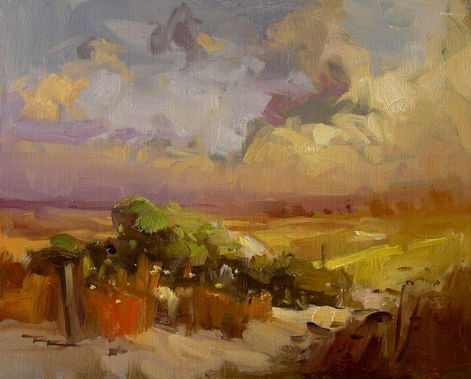 "Sunset Dunes - 10x8"""