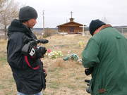 Field shoot at Wounded Knee