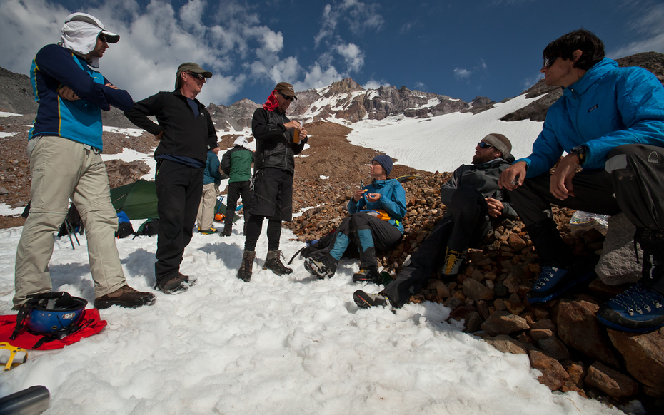 Glacier Caves team