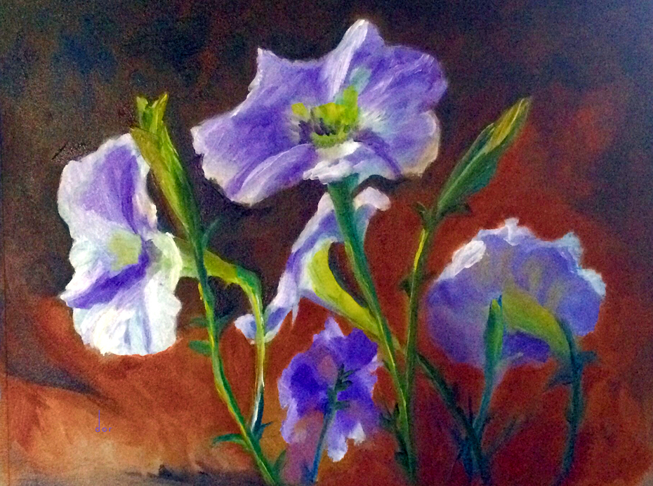 Petunias dor's purple