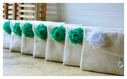 Set of 5 Five Bridesmaid Clutch Purse, raw cotton Linen, Bridesmaids Gift, Wedding