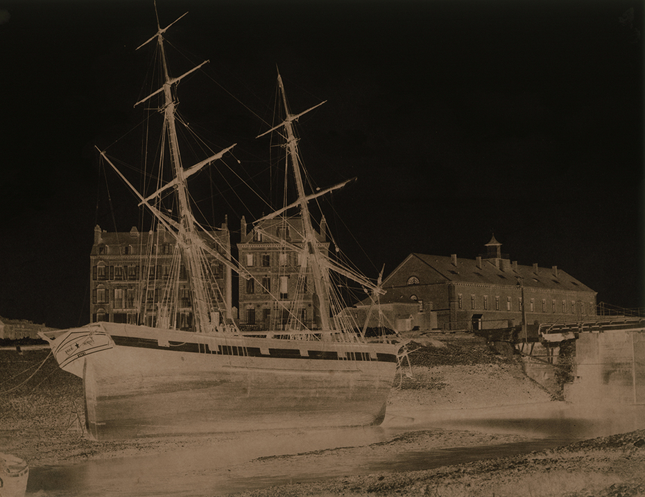 Eugène Nicolas: Studies of Ships and View of Tréport, France.