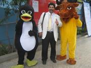 Con mascotas FLISOL 2010