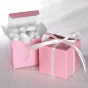Baby Pink Cube  Favour Boxes