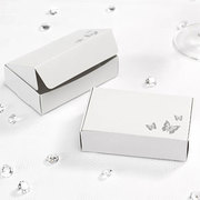 Elegant White and Silver Butterfly Cake Boxes