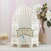Elegant Ivory Mr and Mrs Birdcage Post Box