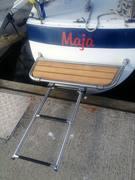 """H35 """"Maja"""" - montering av teak"""