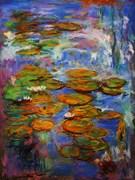 water lilies  a la Monet