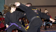self-defense competition at the US Open