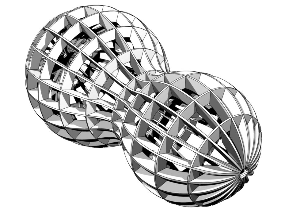Metaball of Revolution Ribs Machine