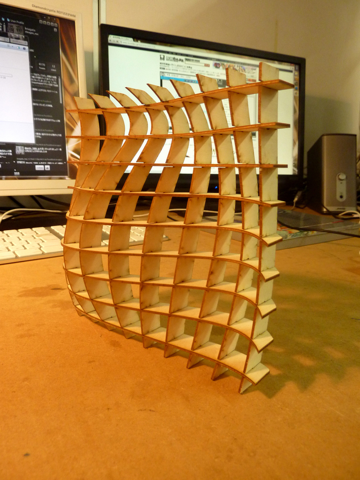 waffle structure