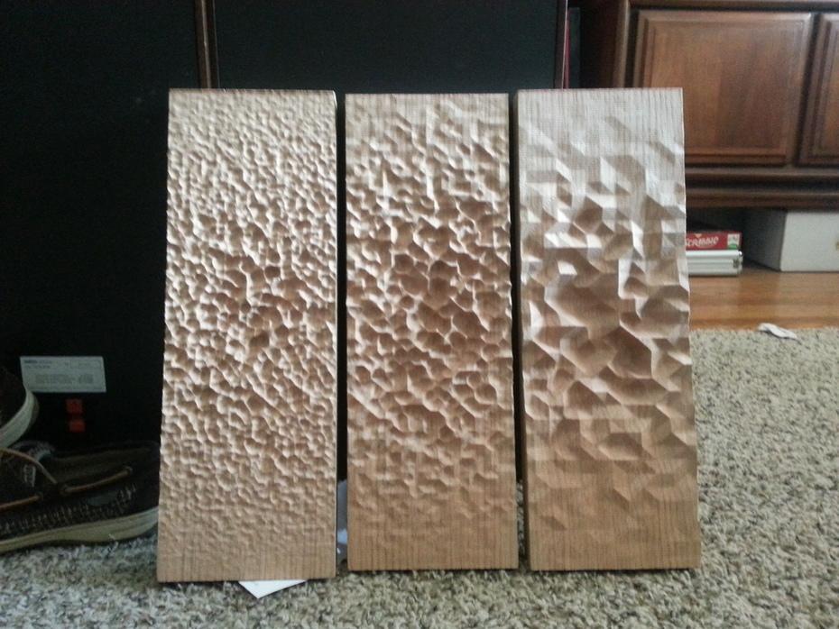 Gradient studies in wood