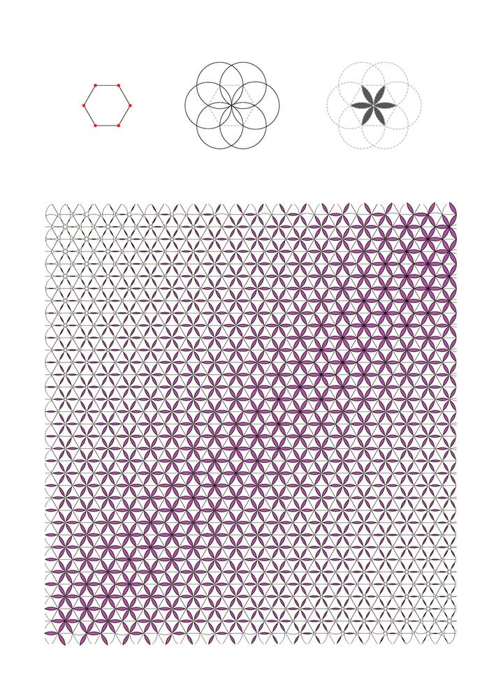 Hexagon-Circle Pattern
