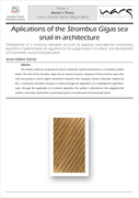 Master's Thesis: Aplications of the Strombus Gigas sea snail in architecture