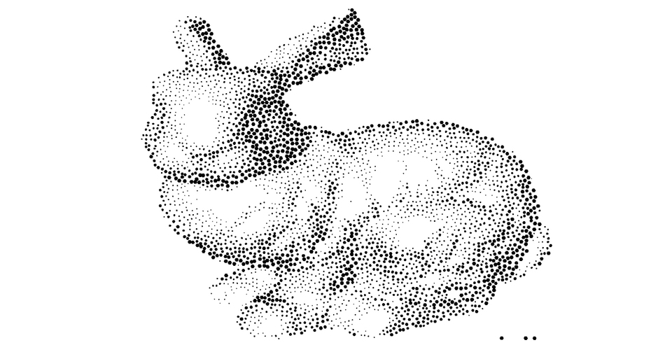 low res stippling