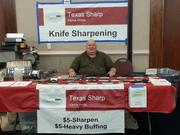 Sharpening at Gun Show 7/6/13