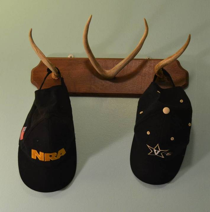 Hat Rack Made With Antlers From My Deer Kills