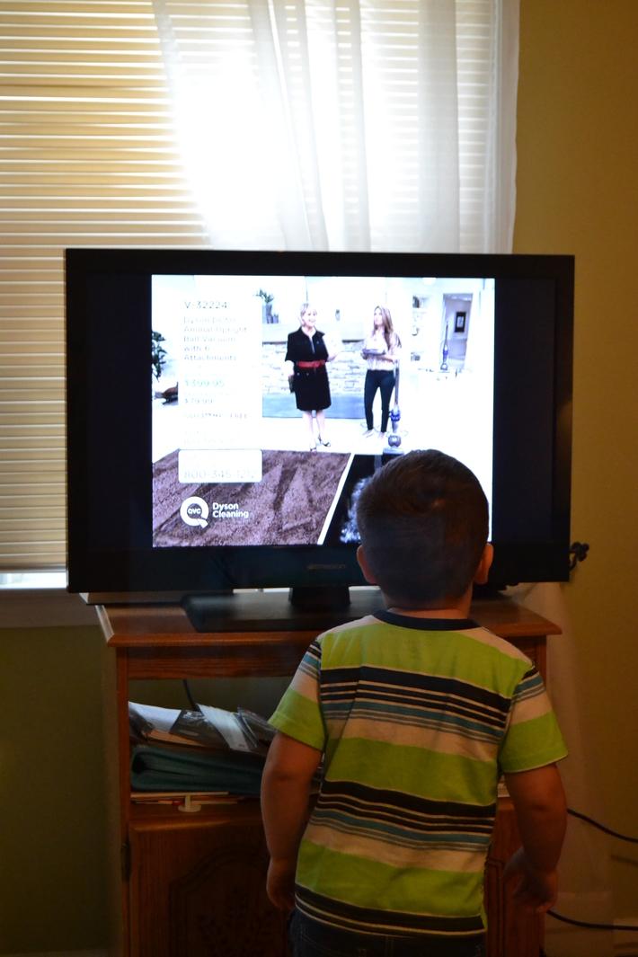 Danny watching Dyson infomercial