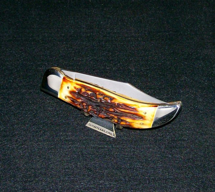 "Schrade Stag Clasp Knife ""Trail Of Tears"" Clasp Knife Circa-1977 Frank Giorgianni Artist"