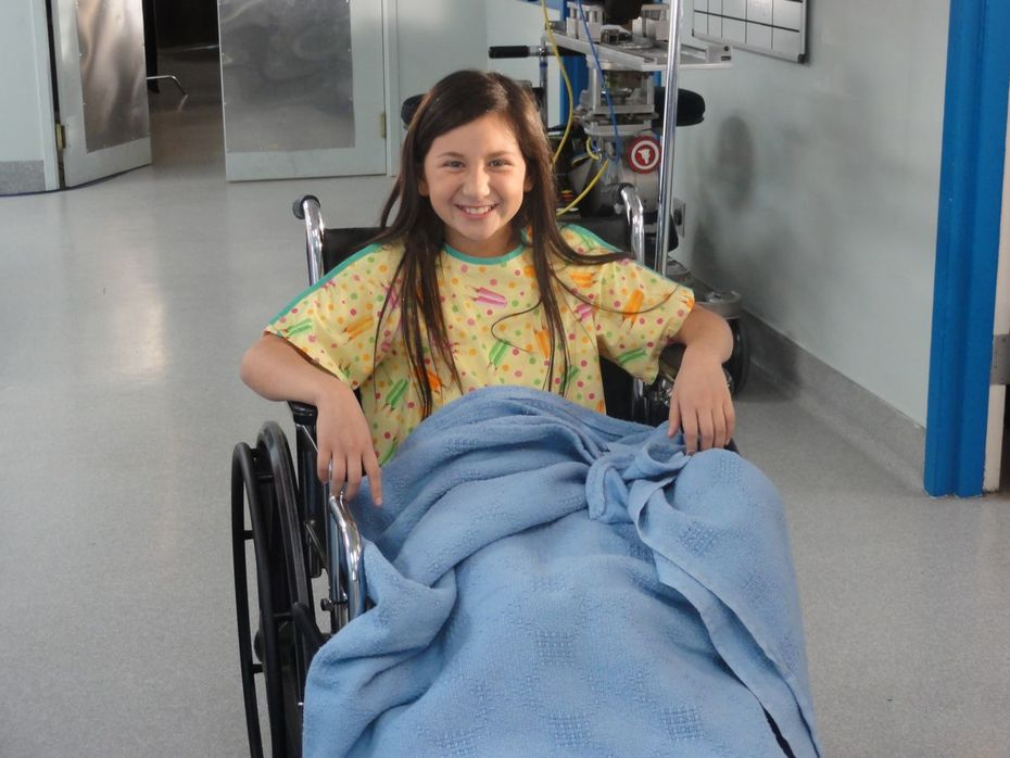"Grace Santa Maria on the set of ""Childrens Hospital"""