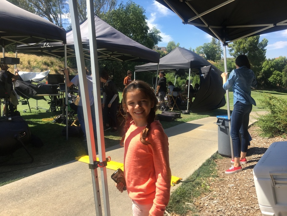 Bailey Bucher Shooting a Commercial for Sensimist