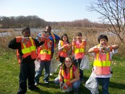 Solar Youth Stewards clean-up West River Memorial Park