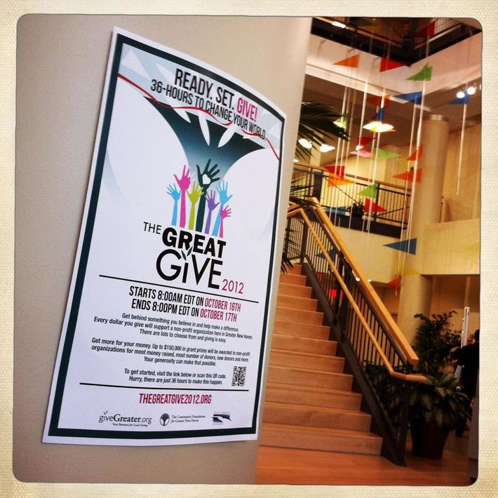 Where have you seen a Great Give poster? Higher One New Haven, CT