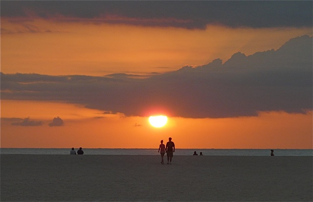 15 Sunset from Sheraton Hotel Beach, Clearwater Beach (PIR)