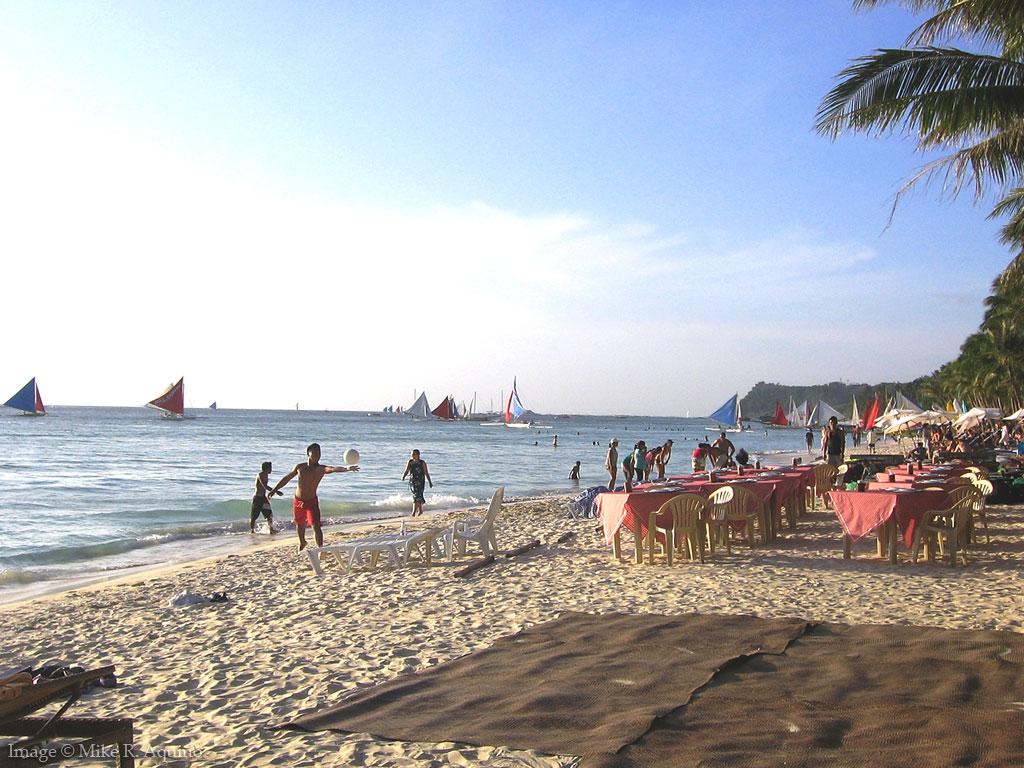 Beach Volleyball Serve at Station 2, Boracay