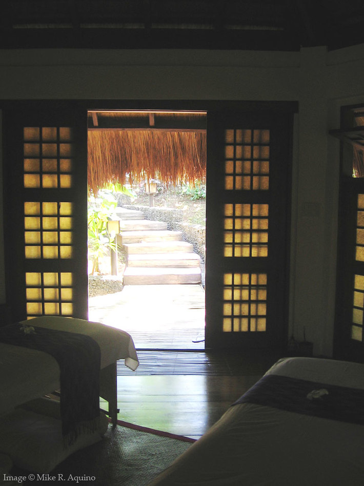 Entrance to Spa Villa, Mandala Spa, Boracay