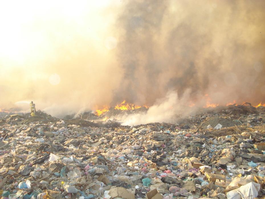 incendio del basurero