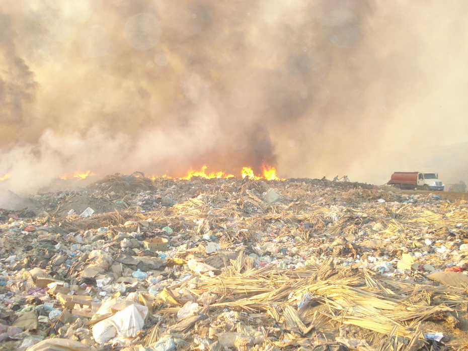 incendio del basurero mpal