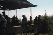rest point during the trek of chisapani with the view of kathmandu vally and the green hill on the sides....