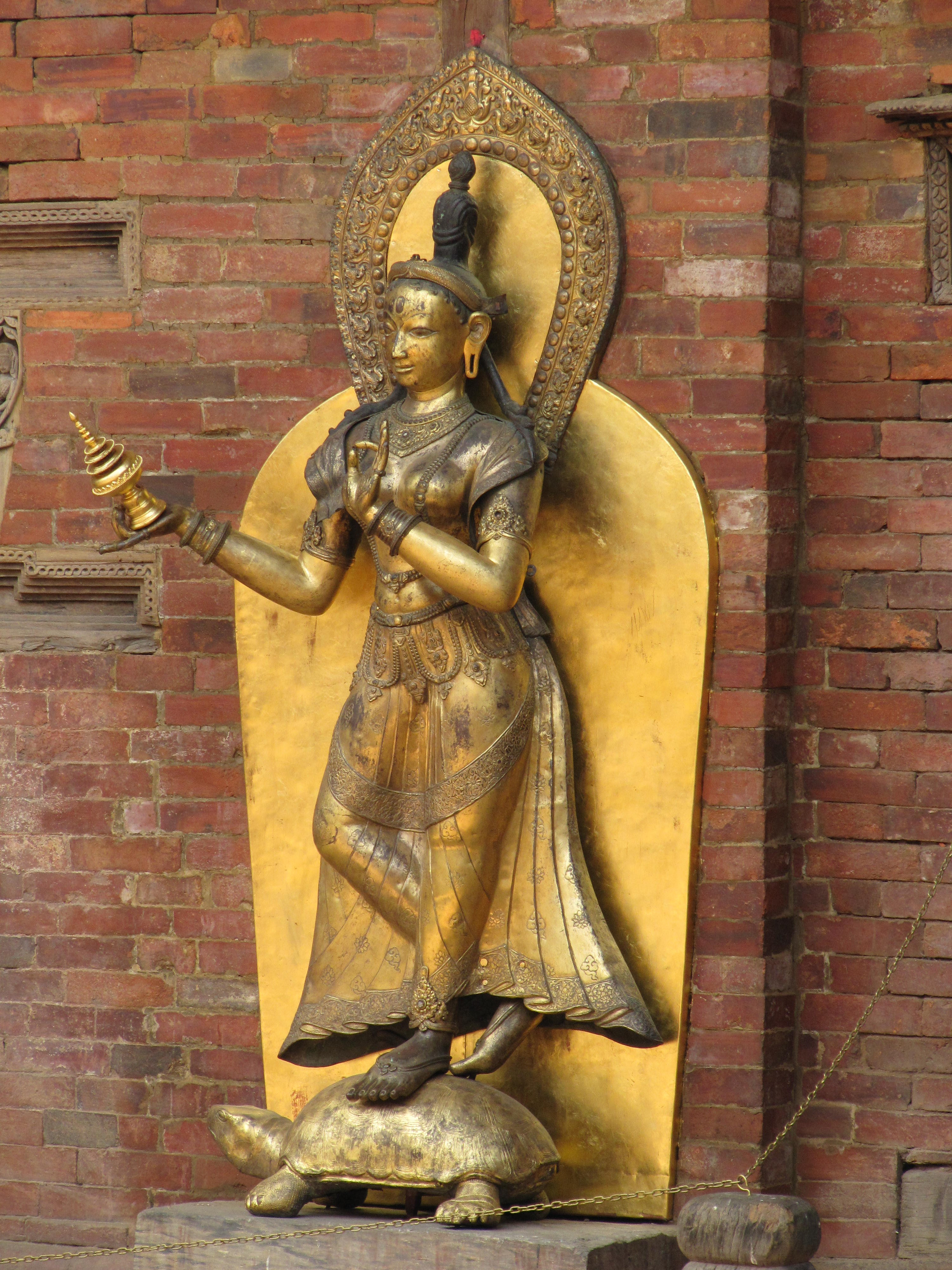 Golden statue in Patan