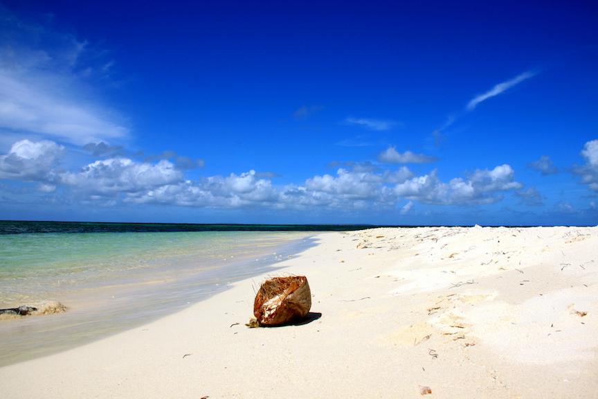 îlet Caret Island located off Grande Terre