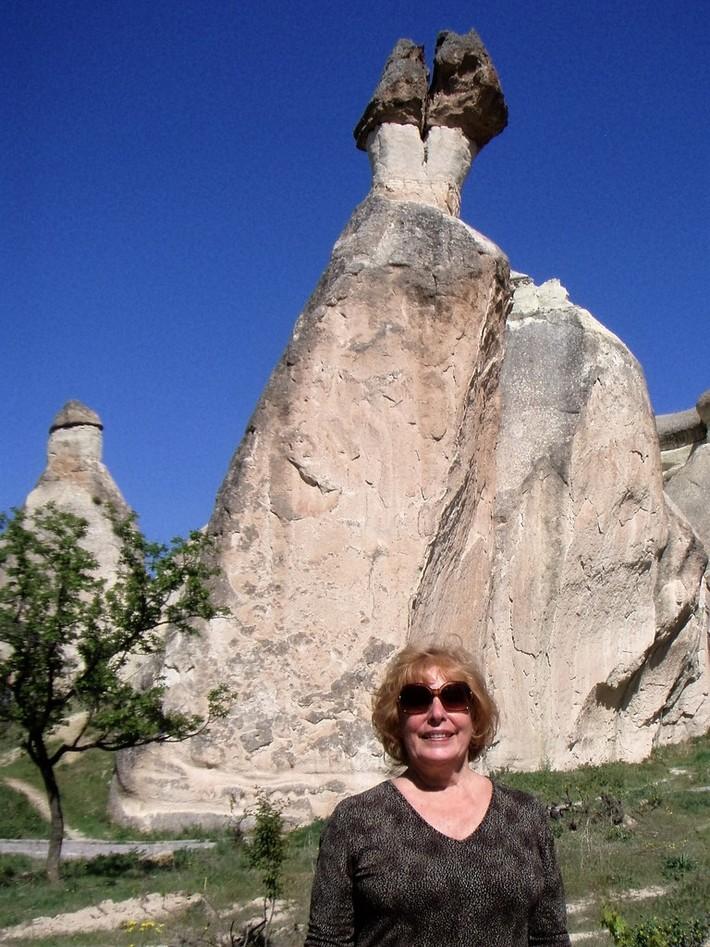 Ann travels the world-rock formations in Cappadocia, Turkey