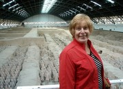 Ann travels the world-Terra Cotta Soldiers in Xi'an, China