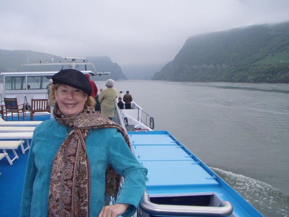 Ann travels the world-on the Danube River between Serbia & Bulgaria