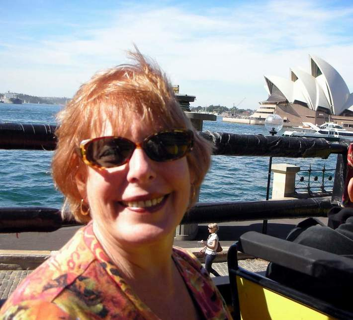 Ann travels the world-at the Opera House in Sydney, Australia