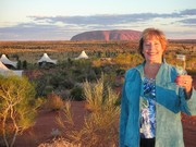 Ann travels the world-from  Longitude 131 resort in Yalaru, Australia near Uluru (Ayers Rock)